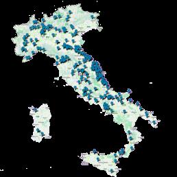 mappa italia presenza linea computers